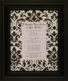 A Birthday Blessing – for Men or Women – Black Tie Collection 11×14 Black Frame